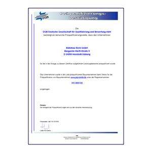 Bahnbaunord BBN-Präqualifikation Gleisbau und Gleisinstandhaltung